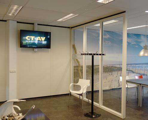 Installatie beeld CT-AV dé audiovisuele inrichters uit Rotterdam